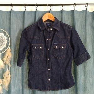 Jean Guess Snap-Button Shirt